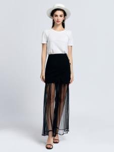 2019音非女装黑色纱裙
