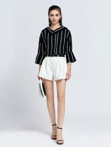 2019音非女装条纹衬衫