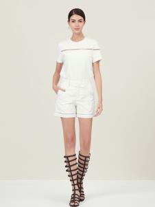 Ms.Leyna女装白色简约套装