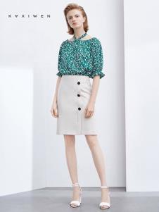 2019佧茜文女裝綠色波點上衣