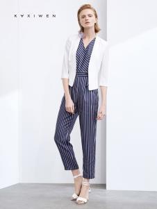 2019佧茜文女装白色小西服