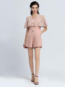 2019音非女装粉色套装裙