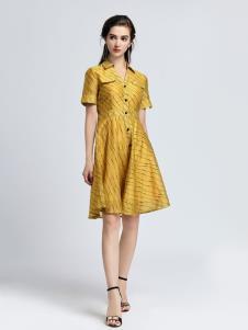 2019音非女装新款衬衫裙