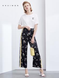2019佧茜文女装白色T恤