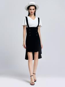 2019音非女装夏新款连衣裙套装