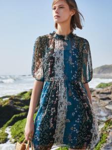 SEASON WIND季候风女装复古印花裙