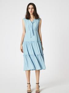 SEASON WIND季候风浅蓝色连衣裙