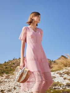 SEASON WIND季候风粉色连衣裙