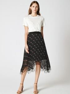 SEASON WIND季候风黑白波点半裙