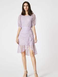 SEASON WIND季候风浅紫色连衣裙