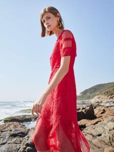 SEASON WIND季候风红色连衣裙