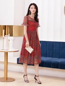 2019布根香女装印花裙