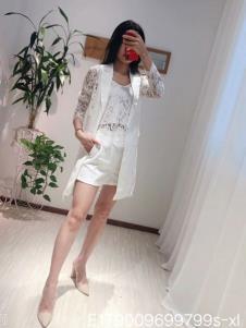 雨珊女装夏白色简约套装