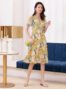 2019布根香女装新款印花裙