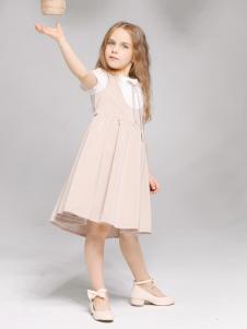 淘淘猫夏季新款粉色连衣裙