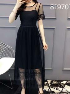 雨珊女装黑色性感纱裙