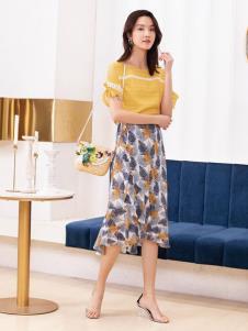 2019布根香女装印花半裙