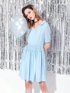 Saslax莎斯莱思浅蓝色连衣裙