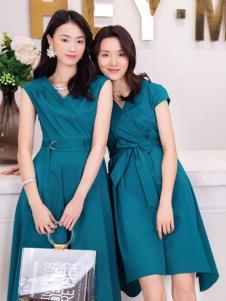 2019布根香女装知性连衣裙