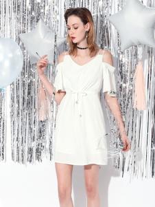 Saslax莎斯莱思白色连衣裙