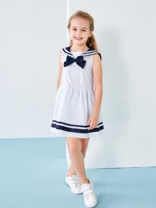 T100女童白色连衣裙