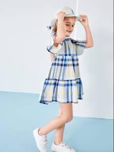 T100童装格子裙