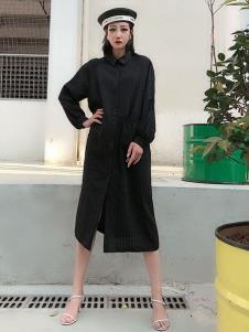 女衣号夏装黑色连衣裙