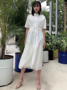女衣号夏装白色连衣裙