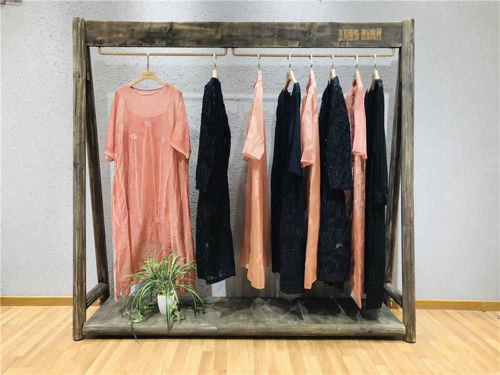 锦丝品牌2019夏装中国风女装折扣批发