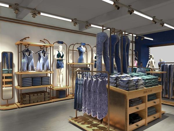 比利牛仔时装店铺形象图品牌旗舰店店面