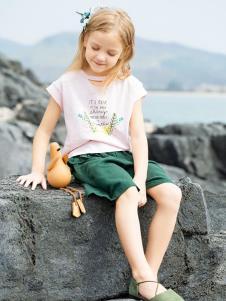 青蛙王子女童夏新款T恤