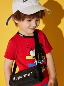 迪士尼宝宝童装T恤夏新款