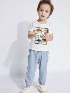 迪士尼宝宝童装男童夏简约套装