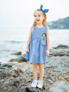 青蛙王子女大童19夏新款裙子