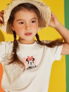 迪士尼宝宝女童白色T恤