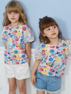迪士尼寶寶女童夏款印花T恤
