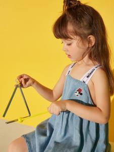 迪士尼宝宝童装女童吊带裙