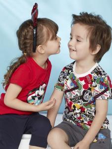 迪士尼宝宝童装夏新款T恤