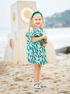 青蛙王子女童19新款韩版连衣裙