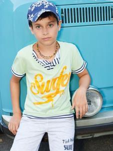 可米芽童裝男童印花T恤