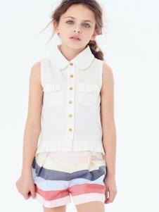 可米芽童装女童夏款上衣