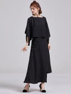 贝珞茵女装2019黑色套装裙