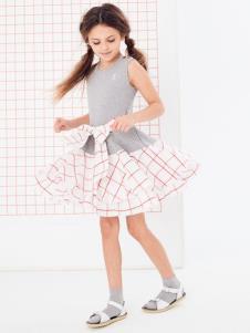 可米芽童装女童时尚连衣裙