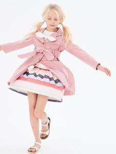 可米芽童装女童粉色外套