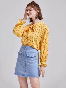 贝珞茵女装2019波点衬衫