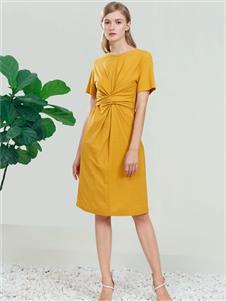 DITTO迪图黄色连衣裙