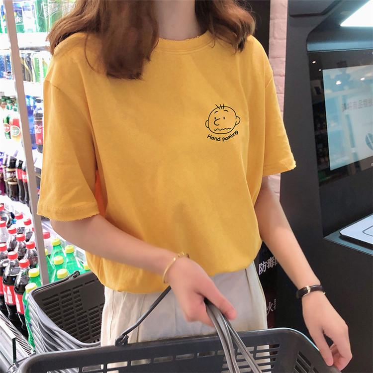 纯棉韩版女式T恤一手货源