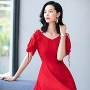 夏日V领连衣裙如何选择,优衣美气质新款推荐