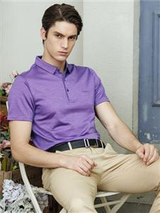 2019卡度尼紫色polo衫