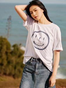 2019碧成萱女装夏款白色T恤